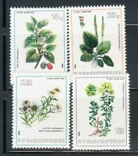 ALBANIA Sc 2137-40 NH ISSUE OF 1984 - FLOWERS