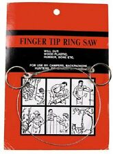 Outdoor Draht Säge mit Ringen Drahtsäge ca. 50 cm Sägedraht stabil NEU