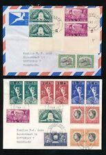 SOUTH WEST AFRICA 1972 UPU + VOORTREKKER CYLINDER BLOCKS on 2 COVERS VFU