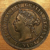 1899 CANADA LARGE CENT PENNY LARGE 1 CENT COIN - Fantastic example!