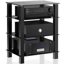 Black TV Stand Entertainment Center Media Console Shelf Storage for AV Component