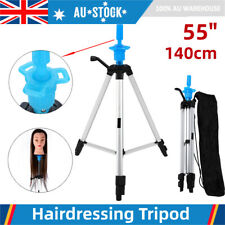 55in Adjustable Wig Head Tripod Stand Mannequin Hairdressing Training Holder AU