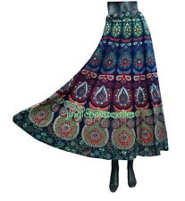 Indian Women Ethnic peacock  Rapron Printed Cotton Long Skirt Wrap Around floral
