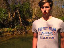 ROBERT SHAW TIGERS 2011 FIELD DAY Gray WORN 100% Cotton Size L T-Shirt