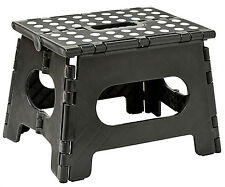 "Folding Step Stool - Enough to Support Adults and Safe Enough for Kids. 11"" Wide"