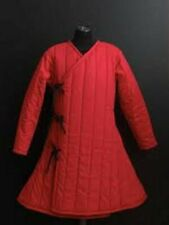 Red Gambeson Medieval Reenactment Costume Sca Larp