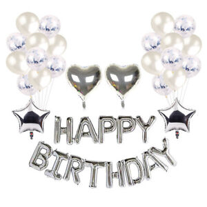 Happy Birthday Decorations Sets Balloons Banners Party Supplies Multiple  Choice