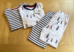The Little White Company London & Stripe Pyjamas, Set of 2, Age 7-8 Years - NWT