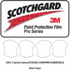 3M SCOTCHGARD PRO Paint Protection Film Toyota CAMRY 2021 Door Cups