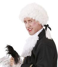 MOZART BAROCCO parrucca per Uomo Bianco NUOVO - CARNEVALE PARRUCCA CAPELLI