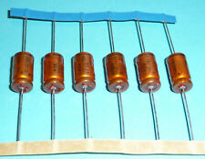 6x org. Roederstein ROE EBM 1000 uF µF 10V Golden Bullet Vintage Audio Grade NOS