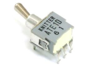 Knitter ATE1D Mini PCB Spdt Toggle Switch on-On / Miniature Ein-Ein