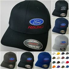 FORD RACING FLEXFIT Embroidered Baseball Hat Cap Flexfit Style 6277 Ford Racing