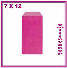lot 25 pochettes cadeau papier enveloppe kraft bijoux...   7x12 rose fushia neuf