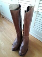 Pair Full Leather Sendra Womens Boots Cognac Brown Size UK7 EUR40 READ Like new