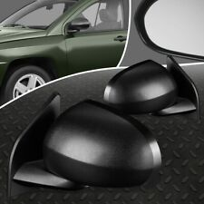 FOR 07-17 JEEP COMPASS PAIR OE STYLE MANUAL ADJUSTMENT SIDE VIEW DOOR MIRROR