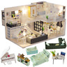 CUTEBEE Dollhouse Miniature with Furniture, DIY DollHouse Kit Plus Dust Proof