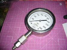 Pressure Gage, Danton, Stainless Steel Case, Range 0 To 1500 Lbs.