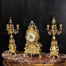 Reloj Antiguo Francés Gótico Bronce Dorado establecidos por Samuel Marti