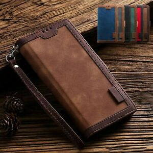 For Samsung Note 20 S20 Ultra S10 Plus S9 Note 10 Case Leather Wallet Flip Cover