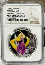 2020 Niue Disney Princess Tangled Rapunzel 1 oz Silver Proof Coin - NGC PF 70