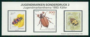 GERMANY S/S 1993 INSECTS BEETLE KÄFER SCARABÉE m2438