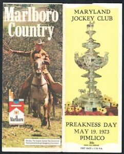SECRETARIAT IN 1973 PREAKNESS STAKES HORSE RACING PROGRAM!