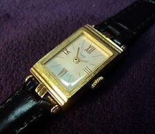 Serviced~USSR Soviet Era Russian Luch 17 Jewel~ 18k Gold Plated Womens Watch