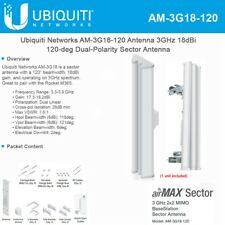 Ubiquiti AM-3G18-120 3GHz 3.65Ghz 18dBi AirMax Sector Antenna.