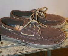 MEN'S SPERRY TOP-SIDER LIGHT BROWN KHAKI BOAT DECK CASUAL LEATHER SHOES SIZE 12