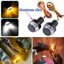 2x Motorcycle Motorbike Turn Signal LED Light Indicator Blinker Handle Bar End