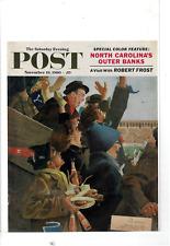 NOV 19 1960 SATURDAY EVENING POST HARVARD YALE FOOTBALL AD PRINT F207