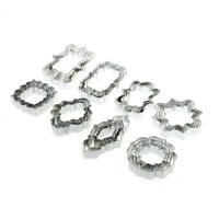 4pcs European Wedding Frame Cookie Cutter Stainless Steel Biscuit Mold Baking Cw