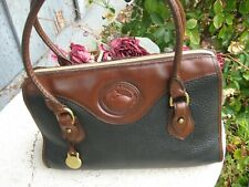 Dooney&Bourke vintage black and brown leather satchel. purse made in USA! nice!
