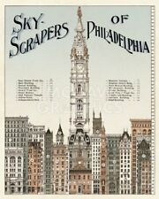 Skyscrapers of Philadelphia, c. 1898 Art Print Vintage Philly PA Poster 27x22