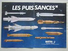5/1983 PUB MATRA MISSILE CROTALE OTOMAT MAGIC II SUPER D BELOUGA FRENCH AD