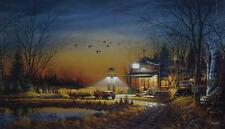 "Terry Redlin "" Welcome to Paradise"" CANVAS  Art Print With COA 24"" x 14"""
