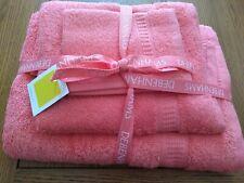 DEBENHAMS SET OF PINK TOWELS - NEW