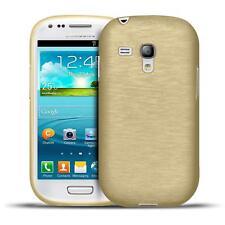 Handy Silikon Case für Samsung Galaxy S3 Mini Hülle Schutz Cover Brushed Tasche