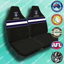 NEW! FREMANTLE DOCKERS FRONT CAR SEAT COVERS, OFFICIAL AFL, AIRBAG COMPATIBLE