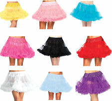 Leg Avenue Deluxe Layered Tulle Petticoat Grey