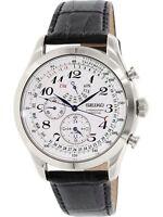 Seiko Men's SPC131 Silver Leather Japanese Quartz Fashion Watch