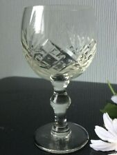 Single Small Cut Crystal Glass Sherry Goblet Balloon 100ml Clear Drink Cup