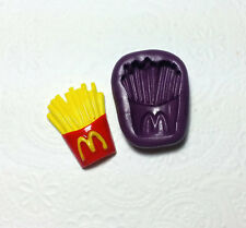 Silicone Mold Miniature French Fries (30mm) Polymer Clay Dollhouse Sugarcraft