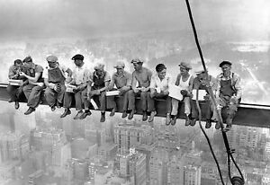Lunch Atop A Skyscraper Wall Poster Prints Home Art Decor Famous Gloss Pictures