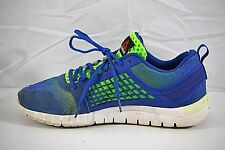 REEBOK NANOWEB Z Rated Mens Blue And Neon Green Sneakers Shoes Sz 10.5