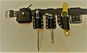 Scaffold Leather Tool Belt | 5 Leather Pouch | Steel Hammer Holder | Tools Set