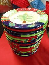 "Outstanding Ceramic Set of 20 LUNCHEON ""Christmas"" PLATES by GARDEN RIDGE"