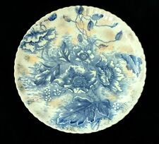 "Antique Flow Blue Dunn Bennett & Co. Florence 8-3/8"" Luncheon Plate"