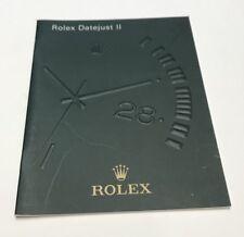 LIVRET / BOOKLET ROLEX 2009 EN FRANCAIS : ROLEX DATEJUST II @ WATCH @ BEL ETAT